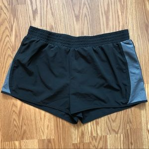 TekGear Lined Black/Grey Athletic Shorts